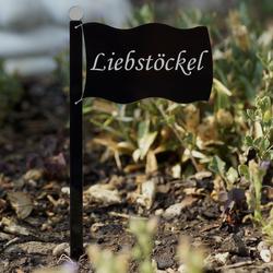Acrylglas Pflanzschilder Fahne schwarz - Auswahl + Wunschname - Gartenstecker, Kräuterschilder, Pflanzenstecker – Bild 21