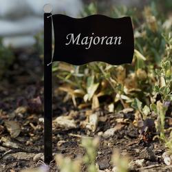 Acrylglas Pflanzschilder Fahne schwarz - Auswahl + Wunschname - Gartenstecker, Kräuterschilder, Pflanzenstecker – Bild 25