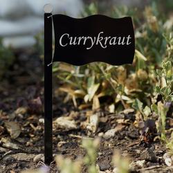 Acrylglas Pflanzschilder Fahne schwarz - Auswahl + Wunschname - Gartenstecker, Kräuterschilder, Pflanzenstecker – Bild 6