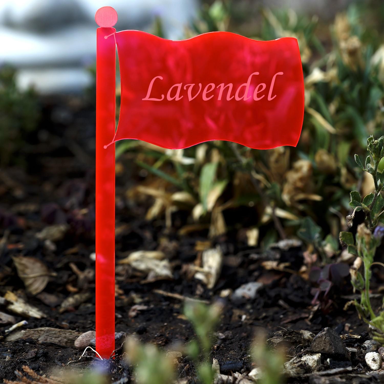 Plexiglas® Pflanzschilder Gartenstecker Fahne neonrot transparent fluoreszierend