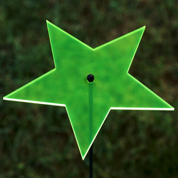 Acrylic glass Suncatcher star 14cm neon transparent fluorescent with 100cm rod - color selection - Suncatcher
