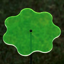 Acrylglas Sonnenfänger Wavy 14cm neon transparent fluoreszierend