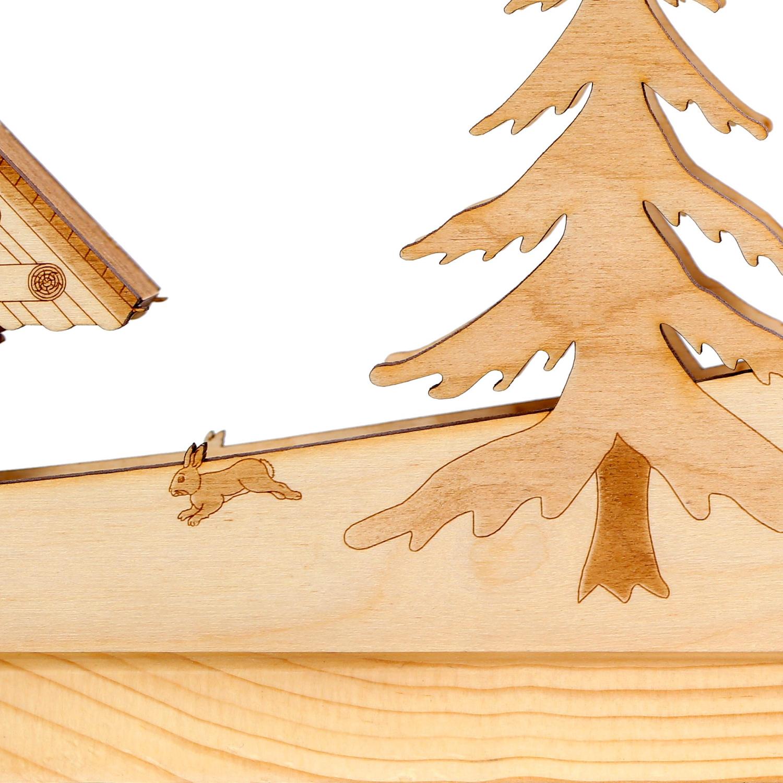 lichterbogen blockh tte schwibbogen aus holz mit 10er lichterkette f r weihnac ebay. Black Bedroom Furniture Sets. Home Design Ideas