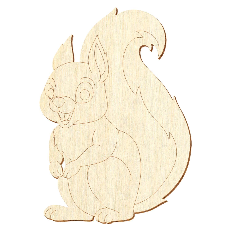 Holz Eichhörnchen V3 - Deko Basteln 5-50cm