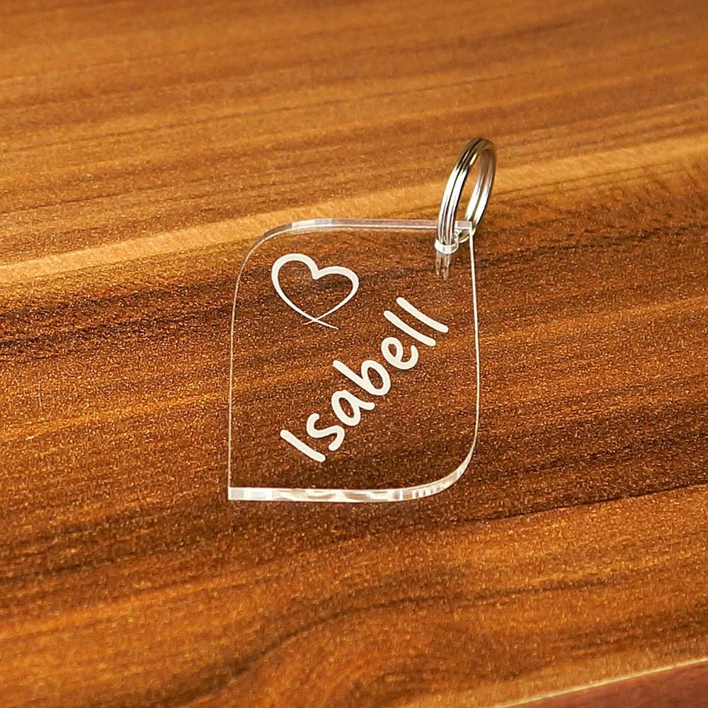 Plexiglas® Liebes-Anhänger Acrylglas Schlüsselanhänger Wunschgravur
