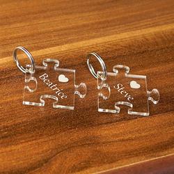 Acrylglas Liebes-Anhänger individuell graviert Namensschilder Schlüsselanhänger – Bild 2