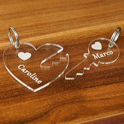 Acrylglas Liebes-Anhänger individuell graviert Namensschilder Schlüsselanhänger – Bild 4