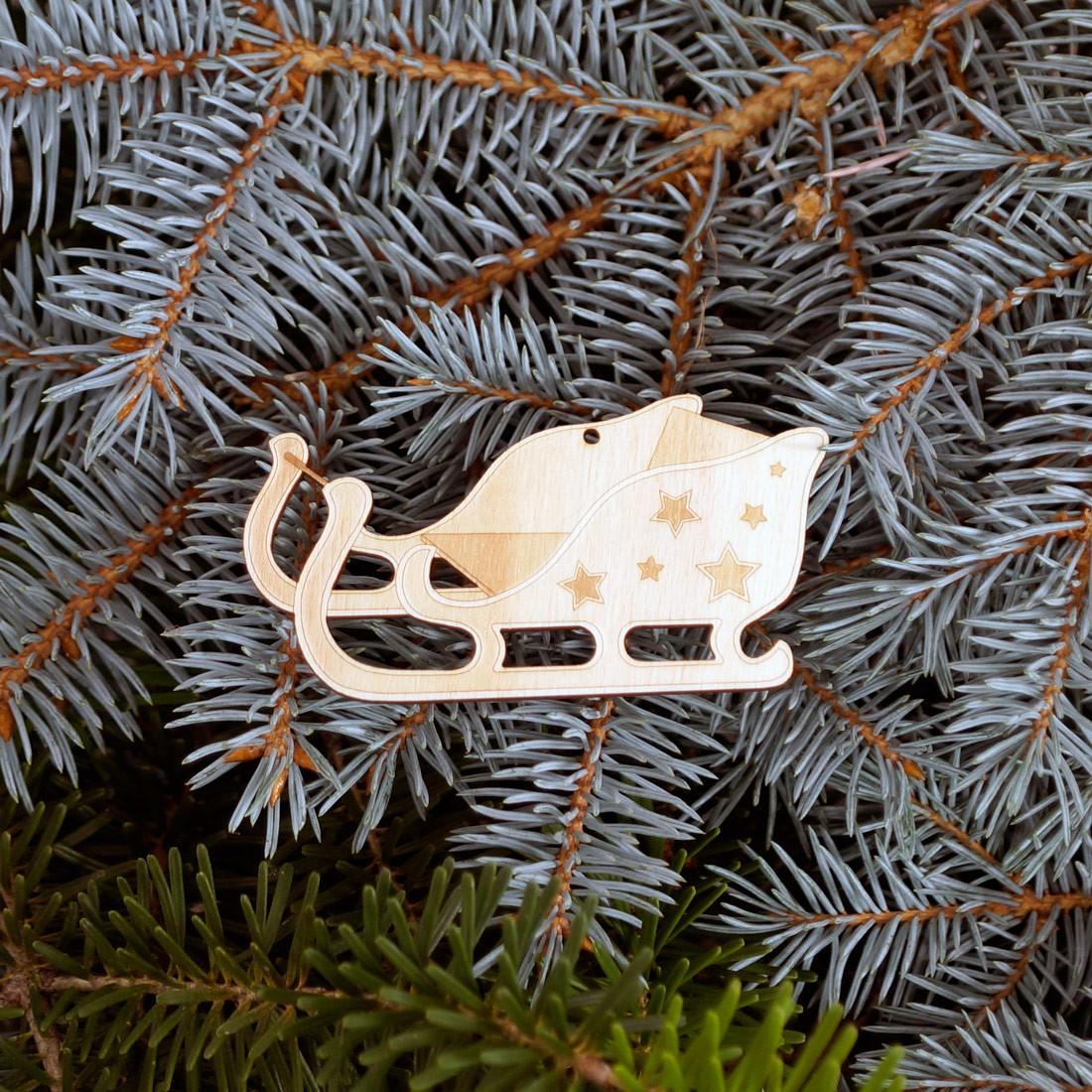 Baumschmuck Weihnachtsmotive Baumbehang - Deko aus Holz für Weihnachten