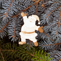 Tree decoration Christmas motive Tree Ornaments - Decoration of wood for Christmas