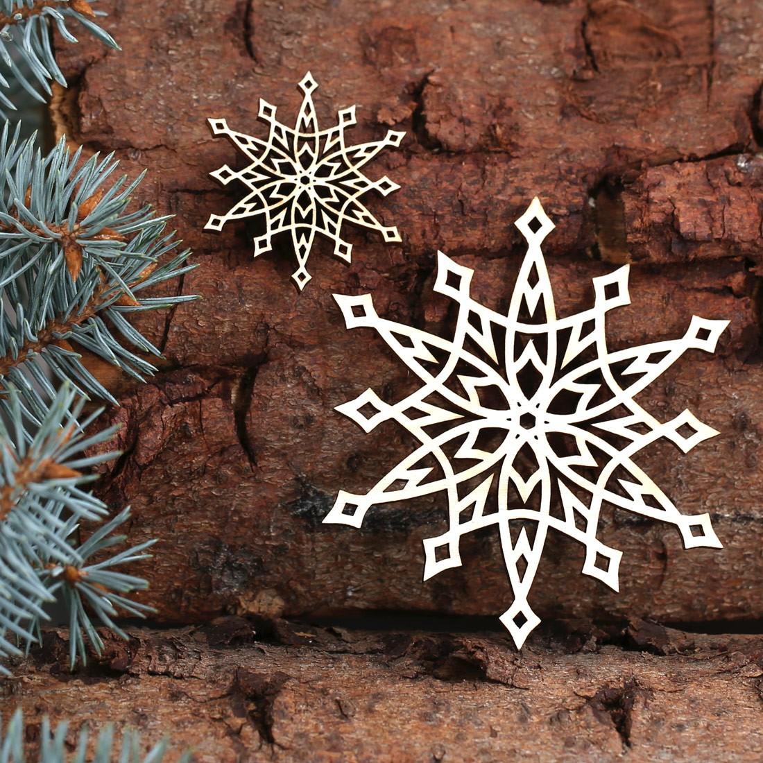 Lieblich Baumschmuck 2er Sets Weihnachtssterne Sterne Baumbehang   Deko Aus Holz Für  Weihnachten
