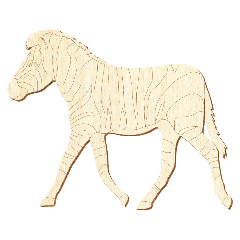 Holz Zebra V2 - Deko Basteln 5-50cm