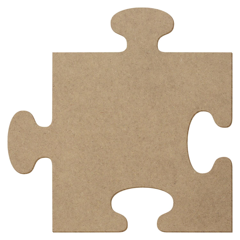 Quadratisches MDF Holz Puzzleteil - Deko Basteln 5-50cm