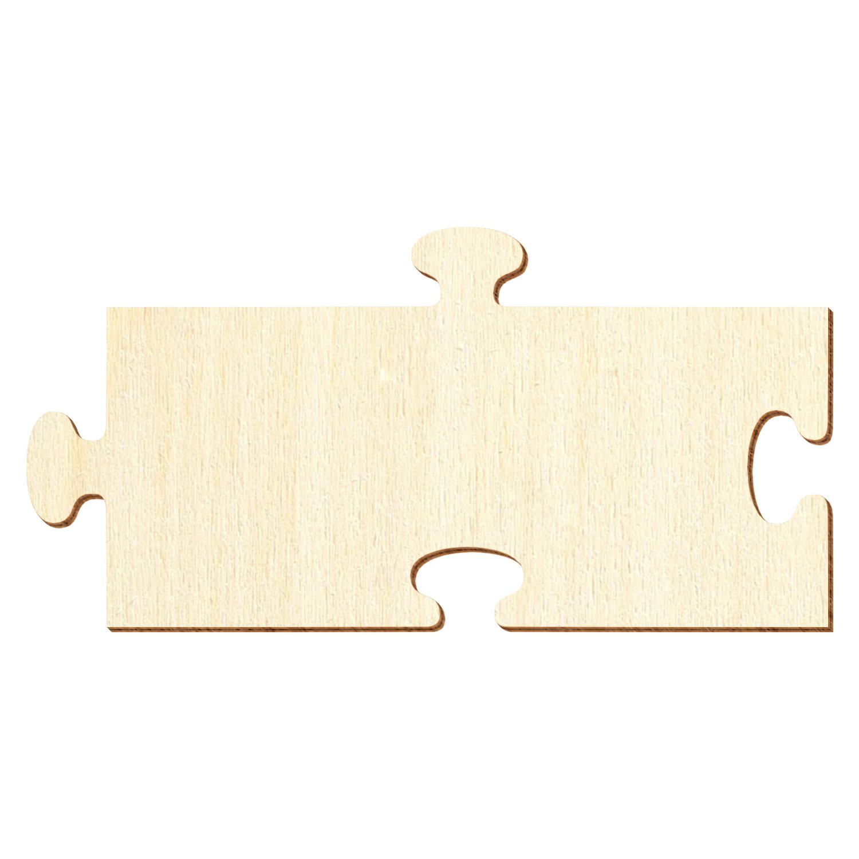 Rechteckiges Holz Puzzleteil - Deko Basteln 5-50cm