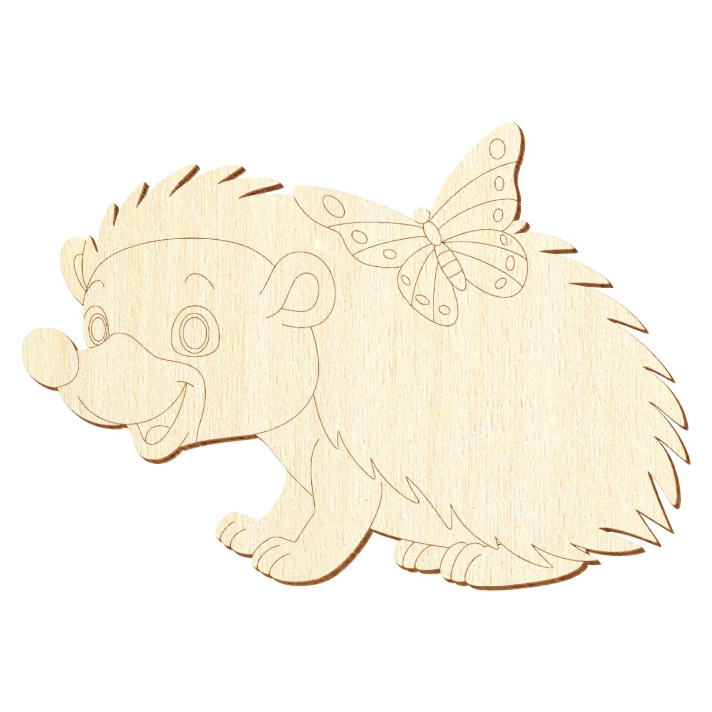 Holz Igel V3 - Deko Basteln 5-50cm