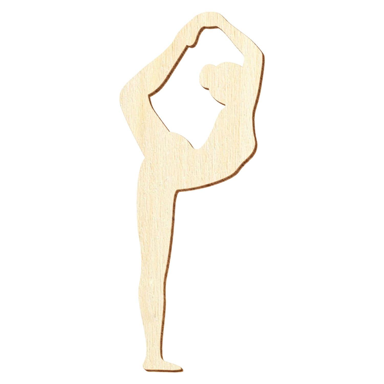 """Yogaposition """"Tänzer"""" aus Holz - Deko Basteln 5-50cm"""