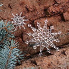 Baumschmuck 2er Sets Acrylglas Weihnachtssterne Baumbehang - Dekoration aus Acryl für Weihnachten