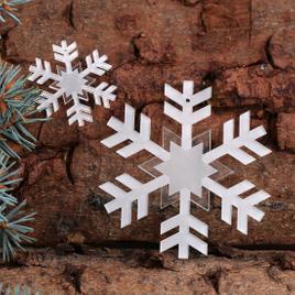 Baumschmuck 2er Sets Acrylglas Schneeflocken Baumbehang - Deko aus Acryl für Weihnachten