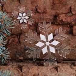 Baumschmuck 2er Sets Acrylglas Schneeflocken Baumbehang - Deko aus Acryl für Weihnachten – Bild 2