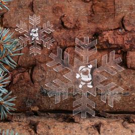 Baumschmuck 2er Sets Acrylglas Motiv-Schneeflocken Baumbehang - Deko aus Acryl für Weihnachten