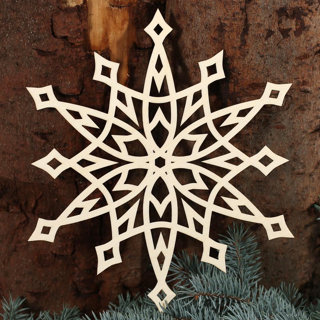 Stern fensterbilder deko aus holz und acrylglas f r for Deko weihnachten holz