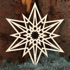 Stern Fensterbilder - Deko aus Holz und Acrylglas für Weihnachten