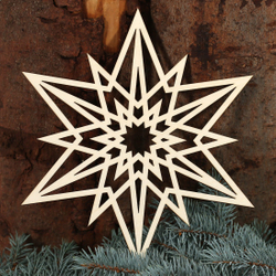 Star window pictures - Decoration of wood and acrylic glass for Christmas