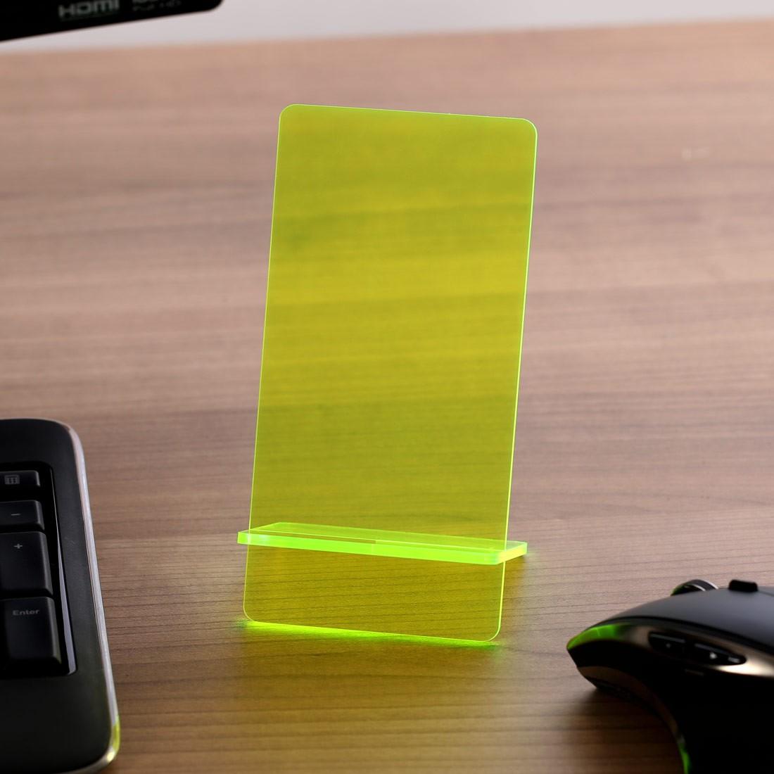 Super Design Handyhalter Ständer aus Holz und Acrylglas optional mit WR79