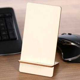 Design Handyhalter Ständer aus Holz und Acrylglas optional mit Gravur