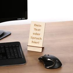 Design Handyhalter Ständer aus Holz und Acrylglas optional mit Gravur – Bild 4
