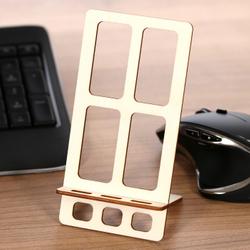 Design Handyhalter Ständer aus Holz und Acrylglas optional mit Gravur – Bild 5