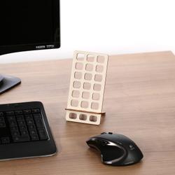 Design Handyhalter Ständer aus Holz und Acrylglas optional mit Gravur – Bild 8