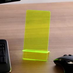 Design Handyhalter Ständer aus Holz und Acrylglas optional mit Gravur – Bild 17