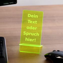 Design Handyhalter Ständer aus Holz und Acrylglas optional mit Gravur – Bild 18