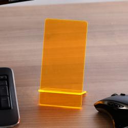 Design Handyhalter Ständer aus Holz und Acrylglas optional mit Gravur – Bild 21