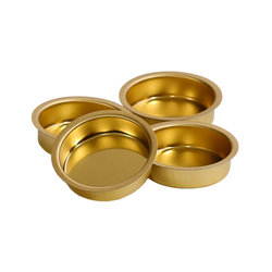 Tealight holder brass 40mm flat - tealight sleeve for standard tealight candles