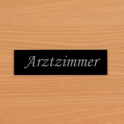 Acrylglas Türschild/Türschilder, Namesschild schwarz - Auswahl + Wunschname  – Bild 4