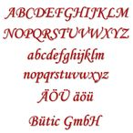 Acrylic glass letters red - MT - 3mm Acrylic glass descriptive text / lettering - Size selection
