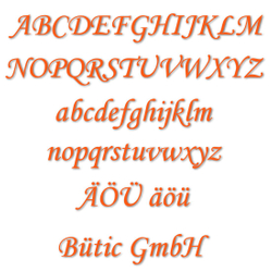 Acrylic glass letters orange - MT - 3mm Acrylic glass descriptive text / lettering - Size selection