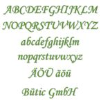 Acrylic glass letters green - MT - 3mm Acrylic glass descriptive text / lettering - Size selection