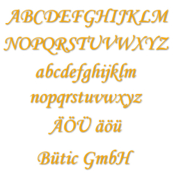 Acrylic glass letters yellow - MT - 3mm Acrylic glass descriptive text / lettering - Size selection