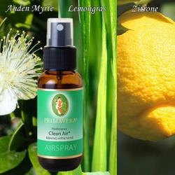 Primavera 100ml BioAirsprays / room scents / 100% natural organic fragrances