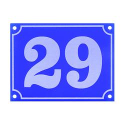 Acrylglas Retro Hausnummernschilder aus Plexiglas optional mit Straße - Wunschzahl und Text 001