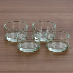 Tealights, tealight glasses 40mm - tealights glass tealight for standard tealight candles