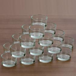 klare Teelichtgläser flach für 40mm Standard Teelichter Glas Teelichthalter – Bild 3
