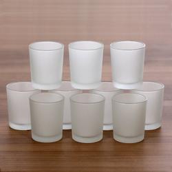 gefrostete Teelichtgläser hoch für 40mm Teelichter Votivglas Windlicht Teelicht – Bild 2