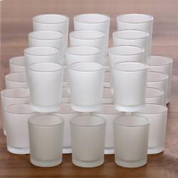 gefrostete Teelichtgläser hoch für 40mm Teelichter Votivglas Windlicht Teelicht – Bild 5