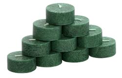 10er Pack durchgefärbte Teelichter - rein pflanzliche rußarme Stearin-Teelichter – Bild 3