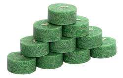 10er Pack durchgefärbte Teelichter - rein pflanzliche rußarme Stearin-Teelichter – Bild 9
