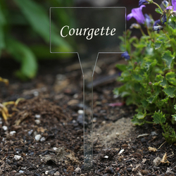Acrylic plant signs square colorless - herbs signs - many plant names or own text – Bild 13
