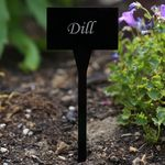 Acrylic plant signs square black - weatherproof and elegant, herbs signs, plant plugs - many plant names or own text – Bild 18